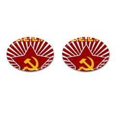 Hammer And Sickle Cccp Cufflinks (oval) by youshidesign