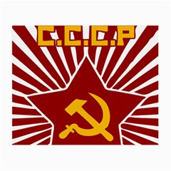 Hammer And Sickle Cccp Glasses Cloth (small, Two Sides) by youshidesign