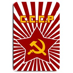 hammer and sickle cccp Large Doormat by youshidesign