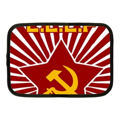 Hammer And Sickle Cccp Netbook Case (medium) by youshidesign