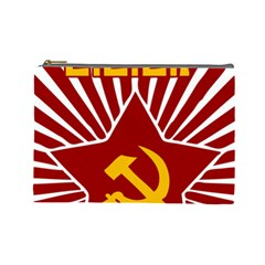 Hammer And Sickle Cccp Cosmetic Bag (large) by youshidesign