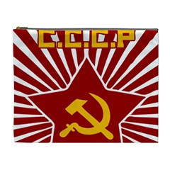 Hammer And Sickle Cccp Cosmetic Bag (xl) by youshidesign