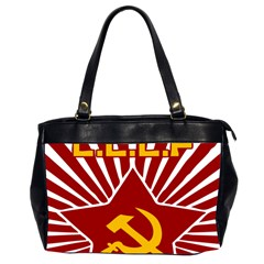 Hammer And Sickle Cccp Oversize Office Handbag (two Sides)