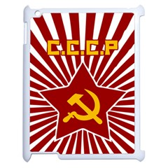 Hammer And Sickle Cccp Apple Ipad 2 Case (white) by youshidesign