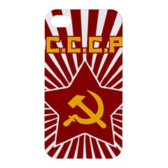 Hammer And Sickle Cccp Apple Iphone 4/4s Premium Hardshell Case by youshidesign