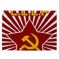 Hammer And Sickle Cccp Cosmetic Bag (xxl) by youshidesign