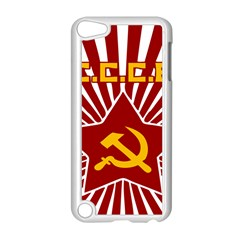 Hammer And Sickle Cccp Apple Ipod Touch 5 Case (white) by youshidesign