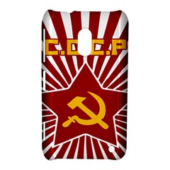 Hammer And Sickle Cccp Nokia Lumia 620 Hardshell Case by youshidesign