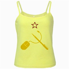 Cccp Mouse Pen Yellow Spaghetti Tank by youshidesign