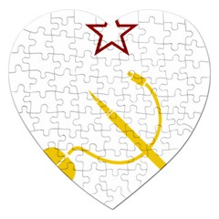 Cccp Mouse Pen Jigsaw Puzzle (heart) by youshidesign