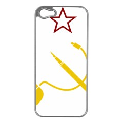 Cccp Mouse Pen Apple Iphone 5 Case (silver) by youshidesign