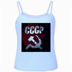 Cccp Soviet Union Flag Baby Blue Spaghetti Tank by youshidesign