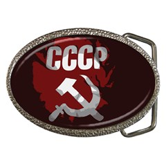 Cccp Soviet Union Flag Belt Buckle by youshidesign
