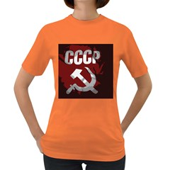 Cccp Soviet Union Flag Women s Dark T Shirt by youshidesign
