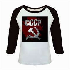 Cccp Soviet Union Flag Kids Baseball Jersey by youshidesign
