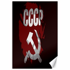 Cccp Soviet Union Flag Canvas 24  X 36  by youshidesign