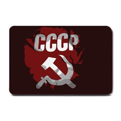 Cccp Soviet union flag Small Doormat by youshidesign