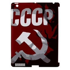 Cccp Soviet Union Flag Apple Ipad 3/4 Hardshell Case (compatible With Smart Cover) by youshidesign