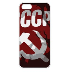 Cccp Soviet Union Flag Apple Iphone 5 Seamless Case (white) by youshidesign