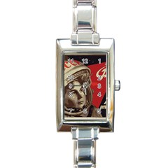 Soviet Union In Space Rectangular Italian Charm Watch by youshidesign