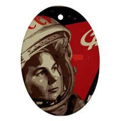 Soviet Union In Space Oval Ornament by youshidesign