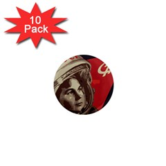 Soviet Union In Space 1  Mini Button Magnet (10 Pack) by youshidesign