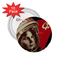 Soviet Union In Space 2 25  Button (10 Pack) by youshidesign