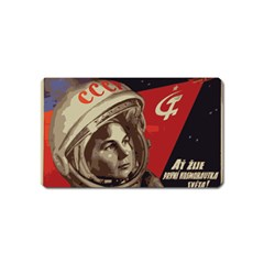 Soviet Union In Space Magnet (name Card) by youshidesign