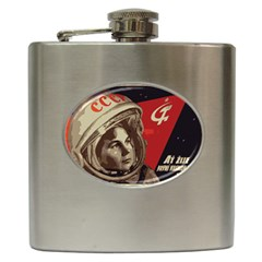 Soviet Union In Space Hip Flask by youshidesign