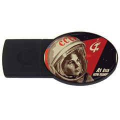 Soviet Union In Space 1GB USB Flash Drive (Oval) by youshidesign