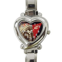 Soviet Union In Space Heart Italian Charm Watch  by youshidesign