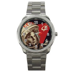 Soviet Union In Space Sport Metal Watch by youshidesign