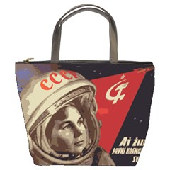 Soviet Union In Space Bucket Bag by youshidesign