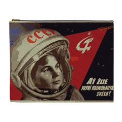 Soviet Union In Space Cosmetic Bag (xl) by youshidesign