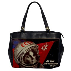 Soviet Union In Space Oversize Office Handbag (one Side)