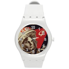 Soviet Union In Space Plastic Sport Watch (medium) by youshidesign