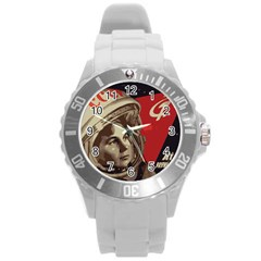 Soviet Union In Space Plastic Sport Watch (large) by youshidesign