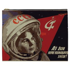Soviet Union In Space Cosmetic Bag (xxxl) by youshidesign