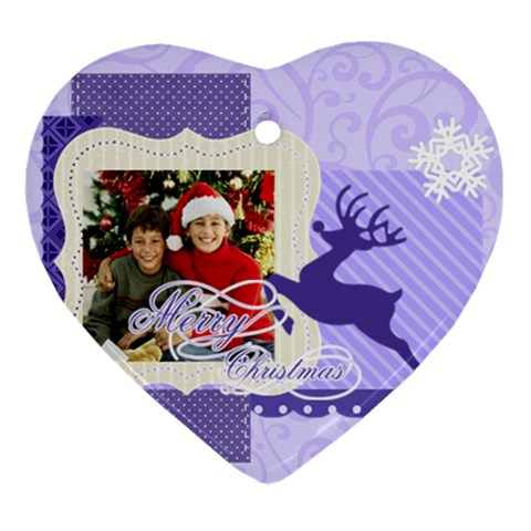 Merry Christmas By Merry Christmas   Ornament (heart)   6wimmdyg48uv   Www Artscow Com Front