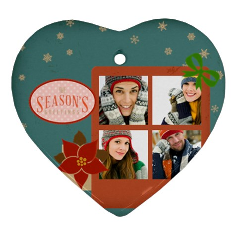Merry Christmas By Merry Christmas   Ornament (heart)   Pup0cv093712   Www Artscow Com Front