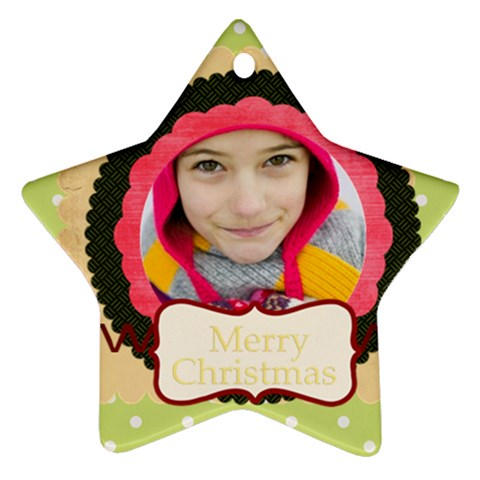 Merry Christmas By Merry Christmas   Ornament (star)   Mjiq9o9uixbb   Www Artscow Com Front