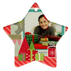 Merry Christmas By Merry Christmas   Star Ornament (two Sides)   X7ns1q00vybs   Www Artscow Com Front