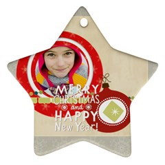 Merry Christmas By Merry Christmas   Star Ornament (two Sides)   4vw9qgdn892p   Www Artscow Com Front