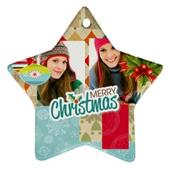 Merry Christmas By Merry Christmas   Star Ornament (two Sides)   Avbhcw986z2n   Www Artscow Com Back