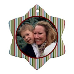 Neal Star Ornament Two Sides By Debra Macv   Snowflake Ornament (two Sides)   Vkcn8ng4peip   Www Artscow Com Front