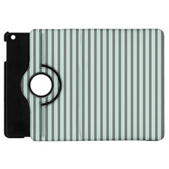 Light Green And Grey Strip Copy Apple Ipad Mini Flip 360 Case by MCGIFTSHOP