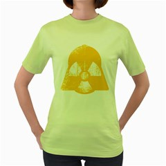 Danger (yellow) Womens  T Shirt (green)