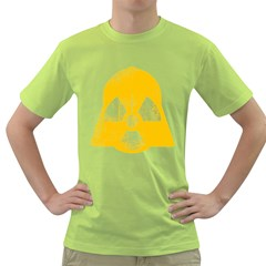 Danger (yellow) Mens  T Shirt (green)