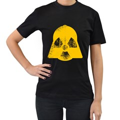 Danger (yellow) Womens' T Shirt (black) by kreadid