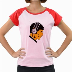 Space Beats Women s Cap Sleeve T Shirt (colored)